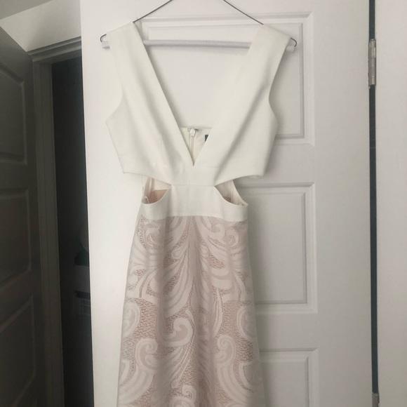 BCBG Dresses & Skirts - BCBG White Cut Out Dress Size 0